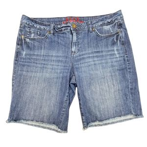 Elle Blue Jeans Shorts Ripped Style - 16